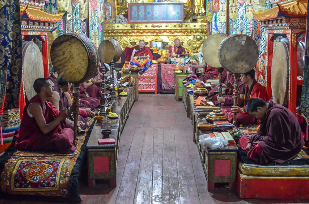 13D12N Mount Everest, Cho Oyu, Shishapangma Private Tour. Day 3_Sera Monastery Assembly Hall