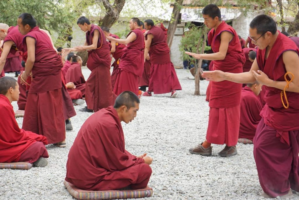 17 Days Everest Base Camp, Guge Kingdom, Mt. Kailash Group Tour. Day 3_Sera Monastery monks