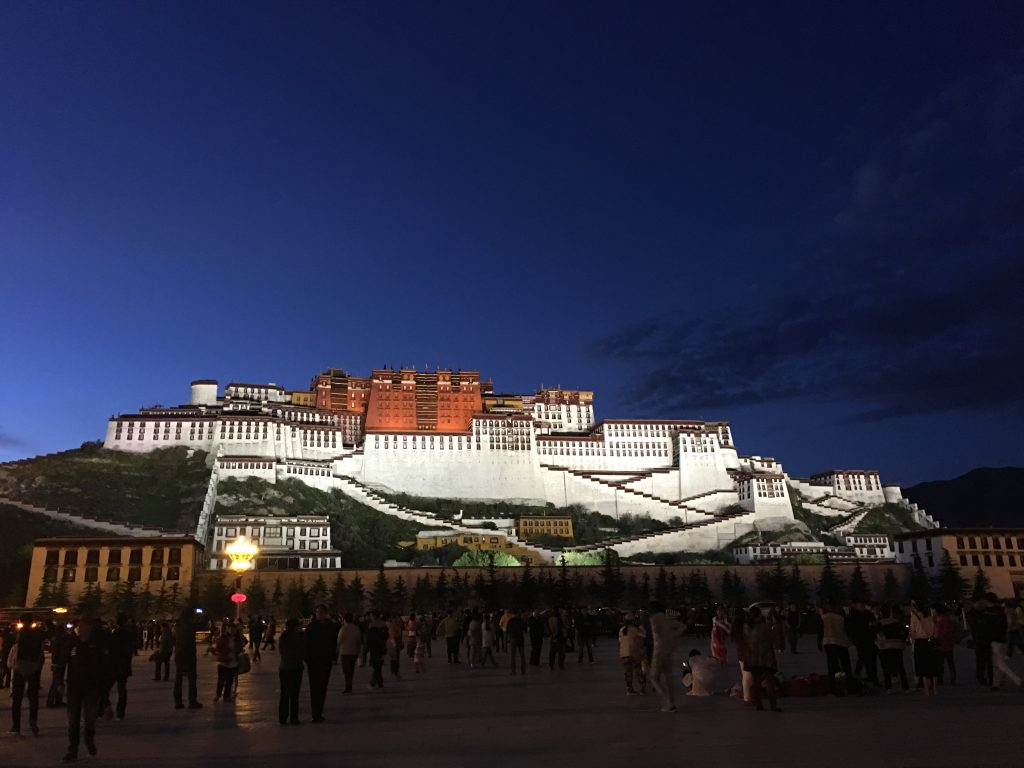 5-Day Lhasa City and Yamdrok Lake Private Tour. Potala palace evening view