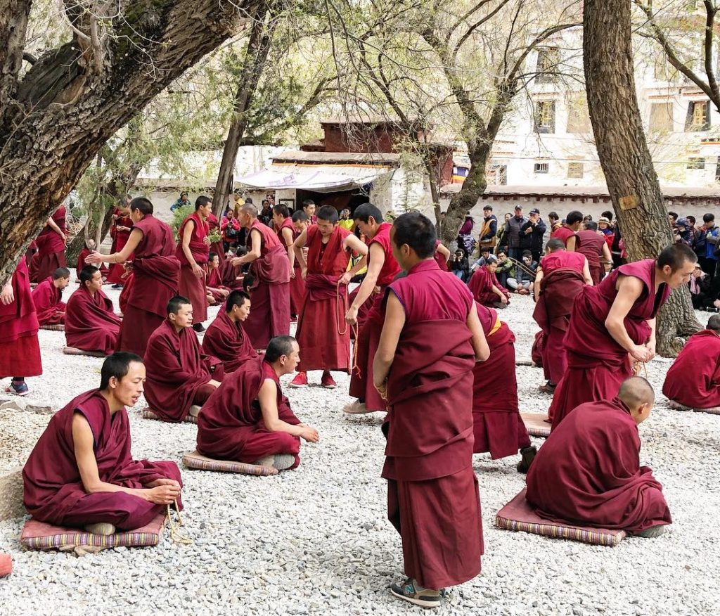 7 Days Lhasa to Everest Base Camp and Kathmandu. Day 3_Sera Monastery monks