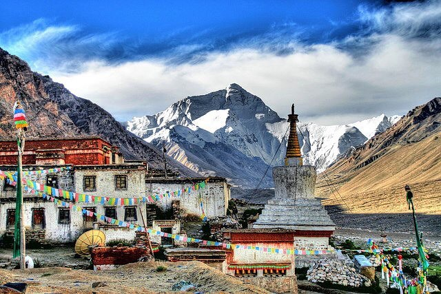 8 Days Lhasa to Everest Base Camp Group Tour. EBC Small Group Tour. Day 5_Rongbuk Monastery