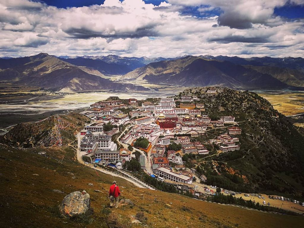 Top tibetan monasteries and temples. Buddhist monasteries in Tibet. Ganden Monastery