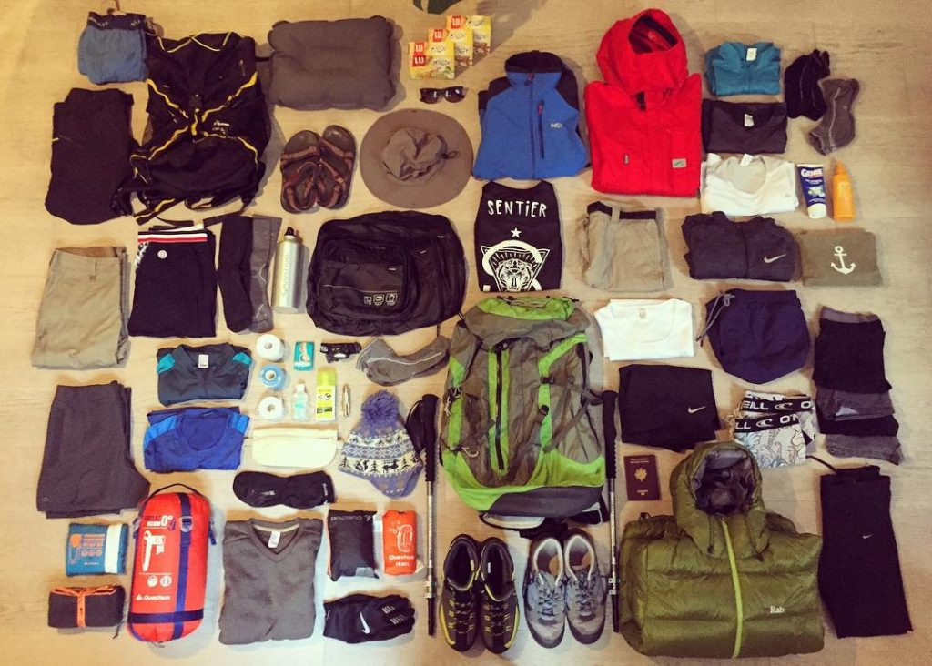 Trekking Packing List for Tibet. Hiking Checklist. What to pack for Tibet. trekking gear